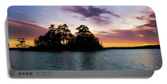 Portable Battery Charger featuring the photograph Bold Sunset Over Lake Martin by Parker Cunningham