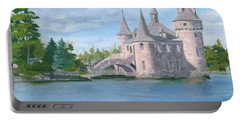 Portable Battery Charger featuring the painting Boldt's Power House by Lynne Reichhart