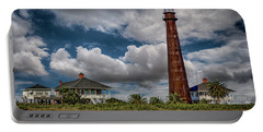 Bolivar Point Lighthouse With Clouds Color Dsc02923 Portable Battery Charger
