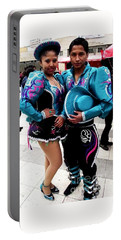 Bolivian Couple Dancers Portable Battery Charger