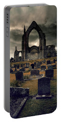Bolton Abbey In The Stormy Weather Portable Battery Charger by Jaroslaw Blaminsky
