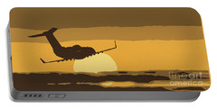 Bombardier Crj-200er Flying Sunset Portable Battery Charger