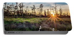 Bonnet Carre Sunset Portable Battery Charger by Andy Crawford