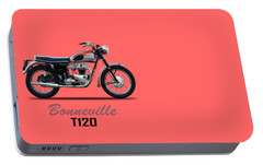 Bonneville T120 1962 Portable Battery Charger by Mark Rogan