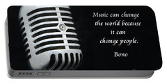 Bono On Music Portable Battery Charger by Paul Ward