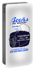 Books Are Weapons - Wpa Portable Battery Charger