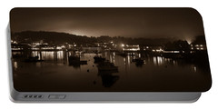 Boothbay Harbor At Night Portable Battery Charger