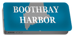 Portable Battery Charger featuring the photograph Boothbay Harbor Maine State City And Town Pride  by Keith Webber Jr