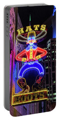 Boots And Hat Neon Sign Portable Battery Charger