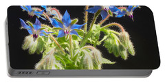Portable Battery Charger featuring the photograph Borage Herb Flowers by Chholing Taha