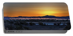 Portable Battery Charger featuring the photograph Borax Lake At Sunrise by Cat Connor