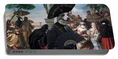Border Collie Art Canvas Print - The Minuet Portable Battery Charger