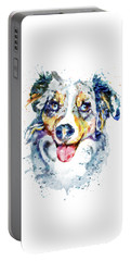 Portable Battery Charger featuring the mixed media Border Collie  by Marian Voicu