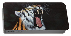 Portable Battery Charger featuring the painting Born Free by Elizabeth Mundaden