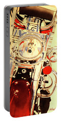 Born To Be Wild Portable Battery Charger by Cynthia Powell