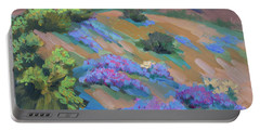 Portable Battery Charger featuring the painting Borrego Springs Verbena by Diane McClary