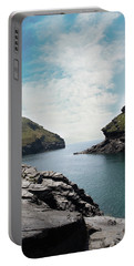 Portable Battery Charger featuring the photograph Boscastle Cornwall by Rebecca Cozart