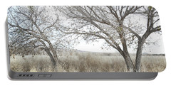 Portable Battery Charger featuring the photograph Bosque Dreamy Tree Field by Andrea Hazel Ihlefeld