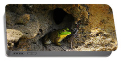 Portable Battery Charger featuring the photograph Boss Frog by Al Powell Photography USA