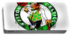 Boston Celtics 2b Portable Battery Charger by Brian Reaves