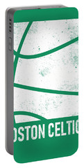 Boston Celtics City Poster Art 2 Portable Battery Charger