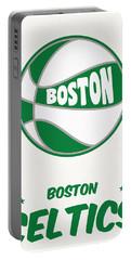 Boston Celtics Vintage Basketball Art Portable Battery Charger