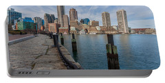 Boston Cityscape From The Seaport District 3 Portable Battery Charger