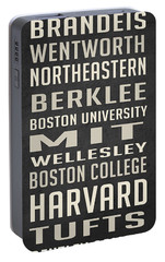 Boston Colleges Poster Portable Battery Charger by Edward Fielding