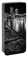 Boston Harbor At Night Portable Battery Charger