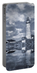 Portable Battery Charger featuring the photograph Boston Light  by Ian Mitchell