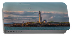 Boston Lighthouse Sunset Portable Battery Charger