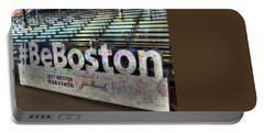 Portable Battery Charger featuring the photograph Boston Marathon Sign by Joann Vitali