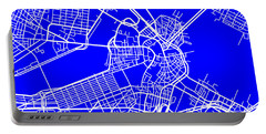 Boston Massachusetts City Map Streets Art Print   Portable Battery Charger by Keith Webber Jr