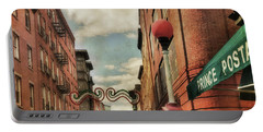 Portable Battery Charger featuring the photograph Boston North End by Joann Vitali