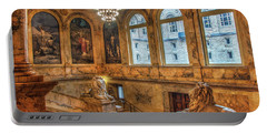 Portable Battery Charger featuring the photograph Boston Public Library Architecture by Joann Vitali