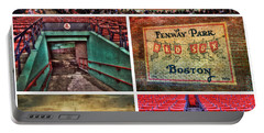 Boston Red Sox Collage - Fenway Park Portable Battery Charger