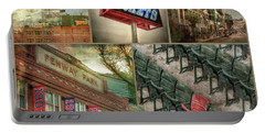 Portable Battery Charger featuring the photograph Boston Red Sox Fenway Park Collage by Joann Vitali