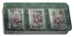 Portable Battery Charger featuring the photograph Boston Red Sox Fenway Park Ticket Booth In Winter by Joann Vitali
