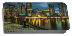 Boston Skyline At Night - Cty828916 Portable Battery Charger
