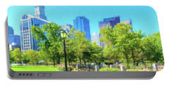 Boston Skyline From Columbus Park Portable Battery Charger
