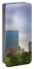 Boston Skyline From Public Garden Portable Battery Charger