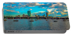 Boston Skyline Painting Effect Portable Battery Charger