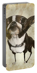 Boston Terrier - Antique Portable Battery Charger