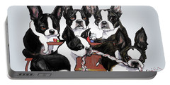 Boston Terrier - Dogs Playing Poker Portable Battery Charger