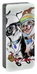 Boston Terriers - Dumb And Dumber Portable Battery Charger