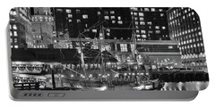 Portable Battery Charger featuring the photograph Bostonian Black And White by Frozen in Time Fine Art Photography