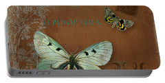Botanica Vintage Butterflies N Moths Collage 4 Portable Battery Charger