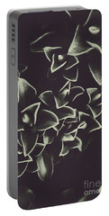 Botanical Blooms In Darkness Portable Battery Charger