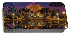 Botanical Building At Night In Balboa Park Portable Battery Charger