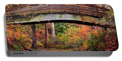 Botanical Gardens Arched Bridge Asheville During Fall Portable Battery Charger